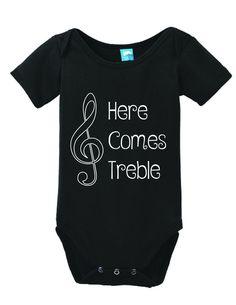 Here Comes Treble Onesie Funny Bodysuit Baby Romper