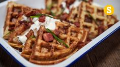 Potato waffles are even better than regular waffles. Because potatoes. And bacon. And cheese. Great, now we want potato waffles. Better still, this is inspir...