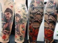 Tatuagem Na Perna Feita No Estúdio Aloha Tattoo