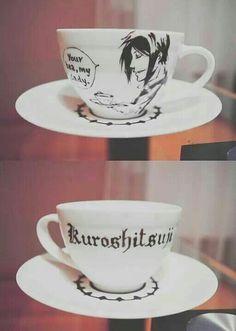 DIY Black Butler (Kuroshitsuji) Tea Cup and Saucer (Could make it into a cool tea cup candle!)