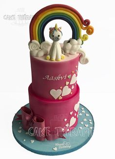 Unicorn and Rainbow cake.