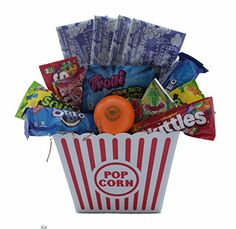 Tail bangers get well dog gift basket dog gift baskets ultimate movie night gift bundle care package easter basket popcorn candy cookies read more reviews negle Images
