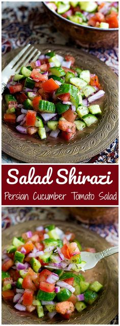 Salad Shirazi is a light and easy Persian salad th…
