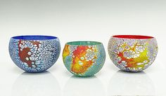 Wildly organic textures and patterns. Elemental Bowls by David  Royce: Art Glass Bowl available at www.artfulhome.com