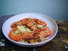 Tagliatelle mit Shitake-Pilzen, Garnelen und Orangensahne / http://piasdeli.de/Rezept/tagliatelle-mit-shitake-pilzen-garnelen-und-orangensahne/