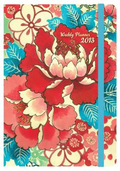 2013 Weekly Planner 5x7 Chinese Peony Bound Engagement Calendar