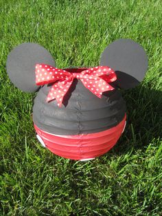 Minnie Mouse Inspired Paper Lantern Decoration by adingkaki, $9.00