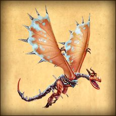 Coldsnap, an exclusive version of the Armorwing from Dragons: Rise of Berk