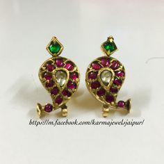 Ear Jewelry, Diamond Jewelry, Ear Rings, Antique Jewellery, Durga, Ear Studs, Tree Branches, Indian Jewelry, Temple