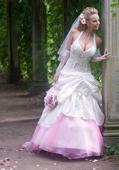 Dip Dye Wedding Gown   Pink dip dye   Wedding Related