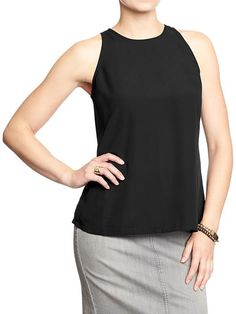Old Navy Sleeveless-Crepe Top $5