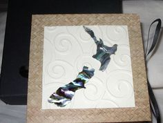 Paua Shell New Zealand Map Album Paua Shell, Craft Shop, Handmade Crafts, New Zealand, Shells, Felt, Invitations, Map, Album