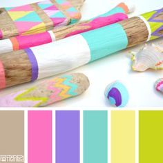 This painted pastel palette is perfect for that morning wedding. It exudes fun, life and celebration!