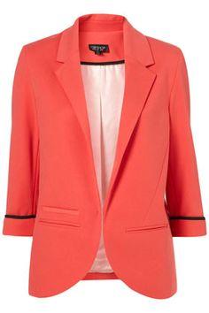 #Coral Blazer.  #clothing #new #fashion #nice  www.2dayslook.com