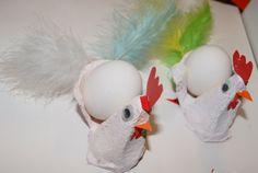Klekkende høner - Eggeglass av eggekartong | Idebank for småbarnsforeldreIdebank for småbarnsforeldre