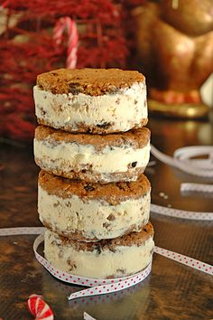 Ginger and Caramel Ice Cream Pies