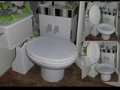 How to make a Doll Bathroom Toilet - YouTube