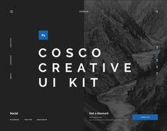 Ознакомьтесь с этим проектом @Behance: «Cosco UI Kit» https://www.behance.net/gallery/49725059/Cosco-UI-Kit
