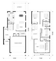 1000 ideas about double storey house plans on pinterest two storey house plans house plans and floor plans
