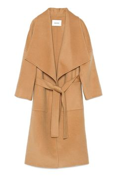 A Wide-Collared Camel Coat for Walking the Afghan Hound You're Going to Own Soon