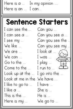 Narrative Writing (Small Moment) Template with Sentence