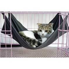 Voberry Summer Winter Available Dual Use Cat Bed Mat Oxford Fabric Pet Cages Hammock Under The Chair Black L ** Visit the image link more details. Note:It is affiliate link to Amazon.