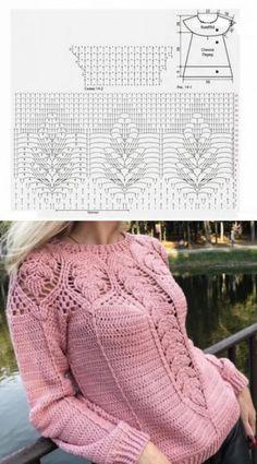 Fabulous Crochet a Little Black Crochet Dress Ideas. Georgeous Crochet a Little Black Crochet Dress Ideas. Crochet Cardigan Pattern, Crochet Jacket, Crochet Blouse, Crochet Jumper, Lace Knitting, Knitting Patterns, Crochet Patterns, Lace Patterns, Lace Sweater