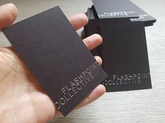 200 Custom hot foil business cards black card stock. Gold