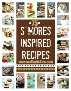 Roundup of 75 AMAZING S'mores Recipes! I just love smores so much! Sweet Desserts, Just Desserts, Sweet Recipes, Delicious Desserts, Dessert Recipes, Yummy Food, Dessert Healthy, Dessert Dishes, Breakfast Recipes