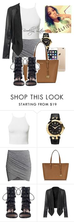 """""""Outfit#21"""" by diamondslove ❤ liked on Polyvore featuring Sanders, Estradeur, Versace, Michael Kors and Zimmermann"""