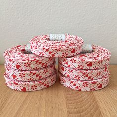 A personal favorite from my Etsy shop https://www.etsy.com/listing/263674842/vintage-red-hearts-cotton-12-double-fold