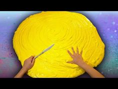 Butter Slime GIANT SIZE How To! $100 DIY Slime Challenge Recipe - YouTube