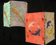 Lanterns, Watercolor and Asian inspired art
