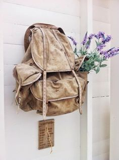 { HAGESTUEN } Leather Backpack, Fashion Backpack, Shabby, Indoor, Gardening, Backpacks, Detail, Bags, Decor