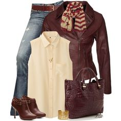 Leather jacket, created by lmm2nd on Polyvore