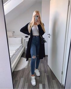 Teen Fashion Outfits, Stylish Outfits, Cute Casual Outfits For Teens, Casual College Outfits, Cute Simple Outfits, Casual Ootd, Mein Style, Outfit Posts, Look Cool