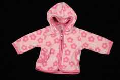 Carters Fleece Jacket with Pink Flowers Infant Baby Girls Size 6 Months #Carters #Everyday