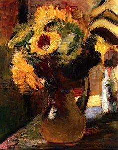 bofransson:  Bouquet of Sunflowers Henri Matisse - 1898