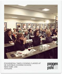 Poggenpohl Takes Cooking Classes at De Gustibus Cooking School NEW YORK, USA