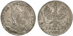 1/3 Taler. Russian Coins. Russian Coinage for East Prussia. Konigsberg mint, 1761. 8,18g. Bit 670 var. R! About uncirculated. Price realized (2011): 2.100 USD.