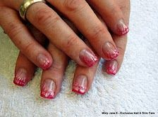 LCN French manicure with red/white nail art White Nail Art, White Nails, Cool Nail Art, Fun Nails, Red And White, Manicure, French, White Nail Beds, Nail Bar