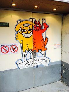M chat, Streetart, Urbacolors