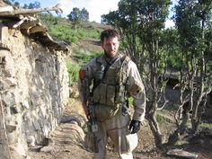 Rare photo of Navy SEAL Lt. Michael Murphy in Afghanistan.