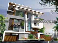 1 New House Plans, Modern House Plans, Modern House Design, Villa Design, House Outside Design, Modern Properties, Contemporary House Plans, Modern Mansion, House Elevation