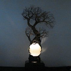 Full Moon Rising Wire Tree Of Life WIND Spirits by CrowsFeathers Sold