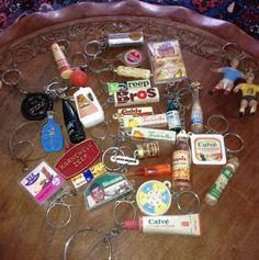 In de jaren 70 spaarde je deze sleutelhangers die je vaak gratis kreeg bij bepaalde producten