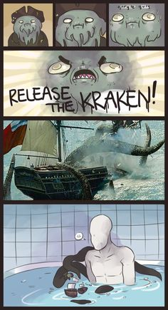 Release the Kraken !, artwork by Jechi