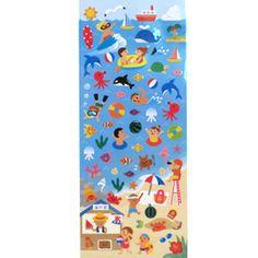 MindWave Summer Beach School Stickers