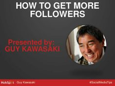 Social media is great for content, but if no one follows your brand, you'll be talking to yourself. Learn how to build a large social media following with 10 exclusive tips from Guy Kawasaki. To see ...