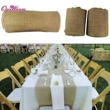 10M*33CM Vintage Hessian Jute Burlap Roll for Wedding Party Table Runner Banquet Home Decoration(China (Mainland))